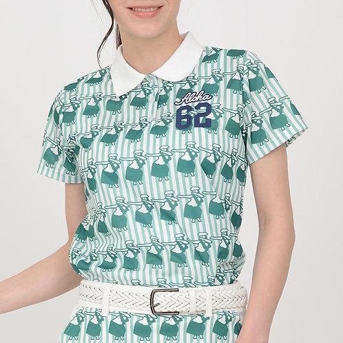 フラガール柄ポロシャツ