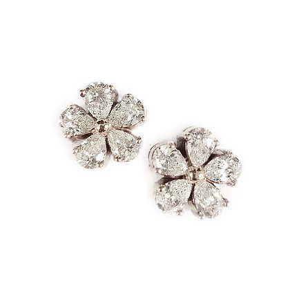 Pear Shaped Floral Studs