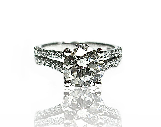 Split Shank Micro Set Ring