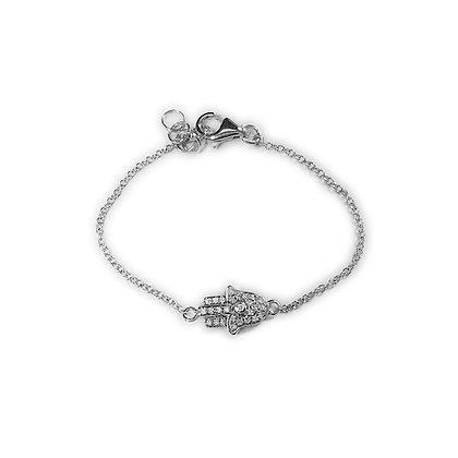 """14 KT Small """"Hand of God"""" Bracelet"""