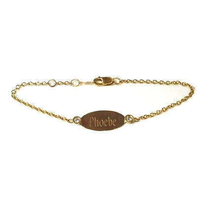 Engravable Bracelet w/ Diamonds
