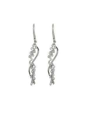 SS Silver Cubic Dangle Earrings