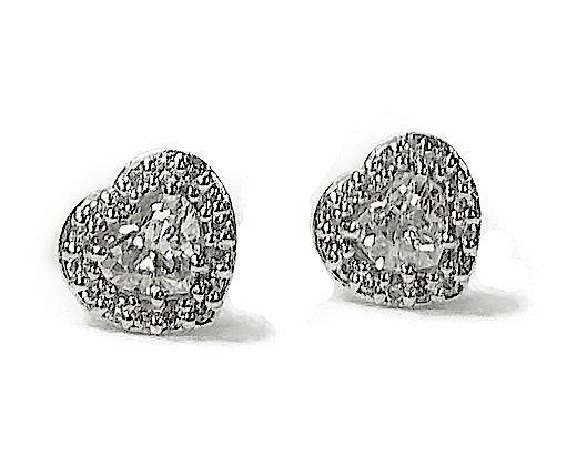 Heart Diamond Studs