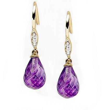 Dangling Diamond Briolette Earring