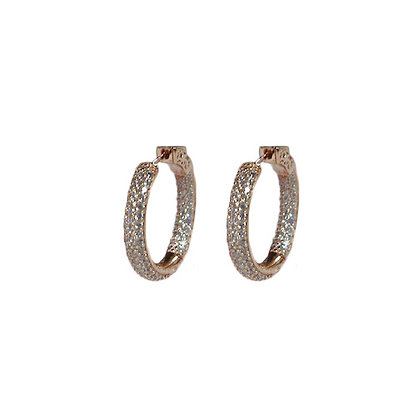 Pave SS Fabulous Hoop!