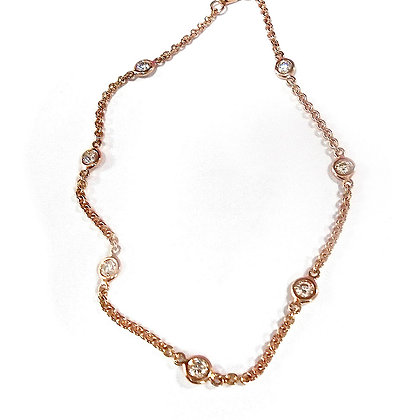 Bez- Set Pink Gold Diamond Necklace