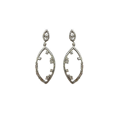 SS Silver Plated Cubic Earrings