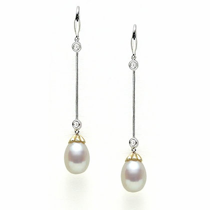 Bridal Pearl Drop Earring