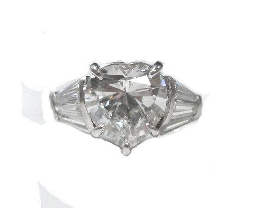 Heart Diamond Engagement Ring