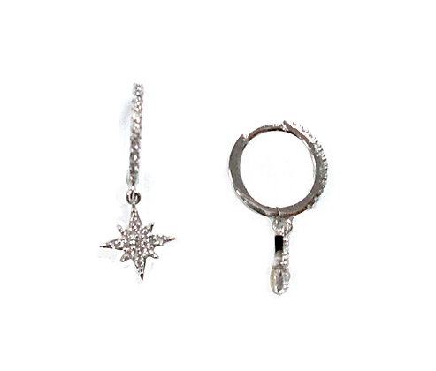 SS Star Hoop Earrings