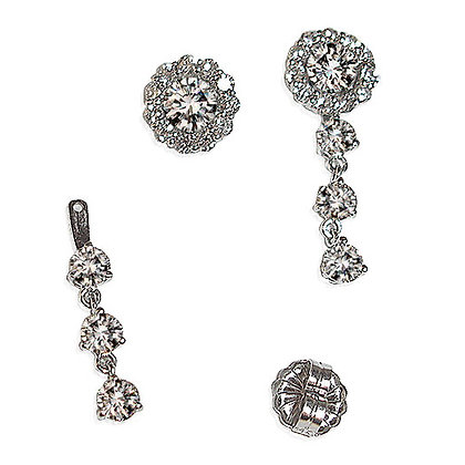 Stackable Bridal Earrings