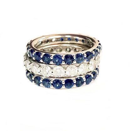 Stunning Sapphire Stacks