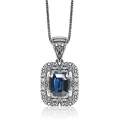 Hexagon Sapphire Pendant