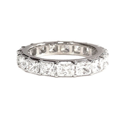Handmade East to West Radiant Cut Eternity Band