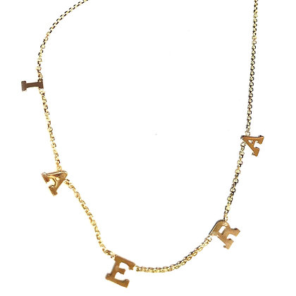 A Custom Initial Necklace