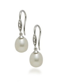 Diamond Dangle Pearl Wire