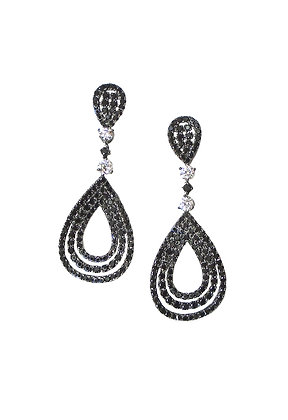 Glistening Black Earrings