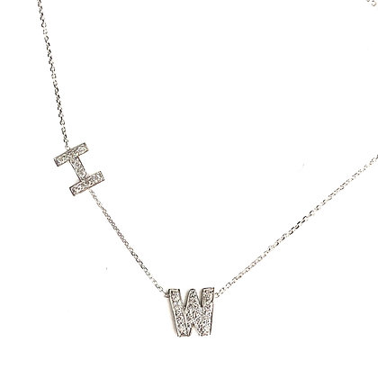 I W Initial Necklace