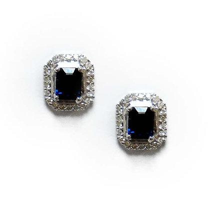 Hexagon Sapphire Studs