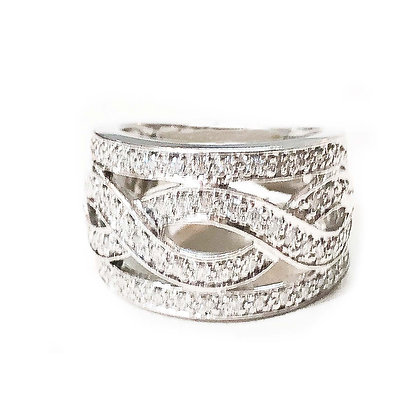 Pave Twist- Right Hand Ring