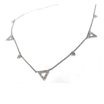 "Ladies 14kt Handmade ""Tri"" Necklace"