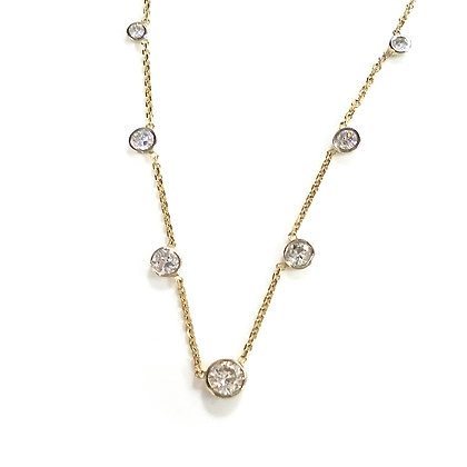 "Yellow and White Gold ""OMG"" Necklace"