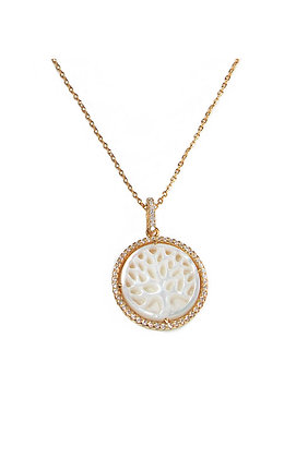 SS Gold Tree Necklace