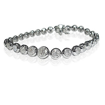 Diamond Bez Set Bracelet
