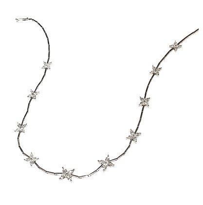 Beautiful Marquise Floral Necklace