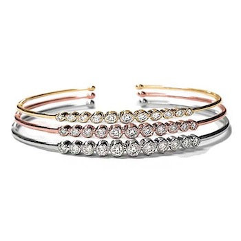Stackable Diamond Bangles