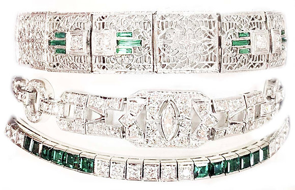 Antique Emerald Bracelets