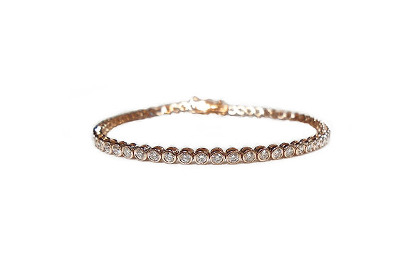 Pink Bez-Set Tennis Bracelet