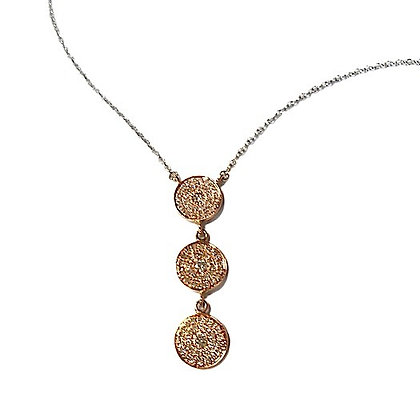 Pave Dangling Disk Necklace