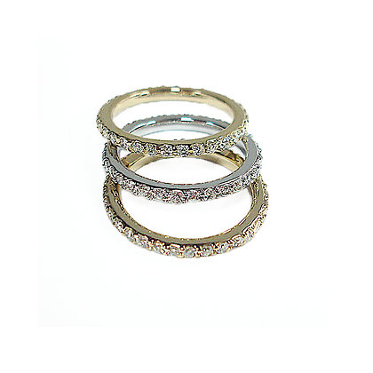 3 Tone Eternity Bands