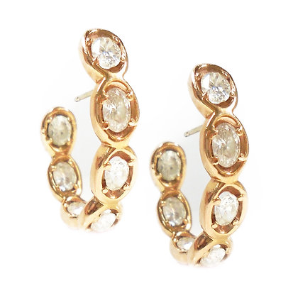 Ovally Pink Gold hoops