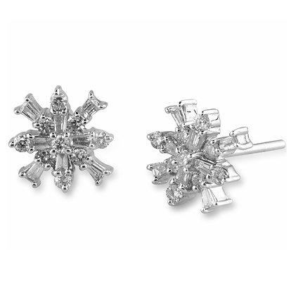 Snowflake Diamond Studs