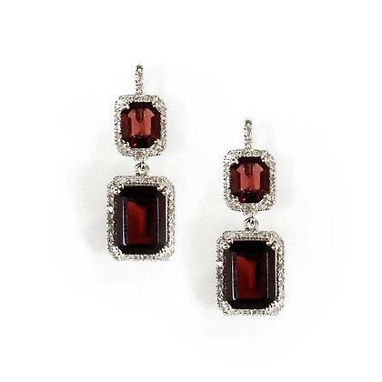 Dangling Garnet Earring