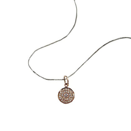 Round Pave Disk Pendant