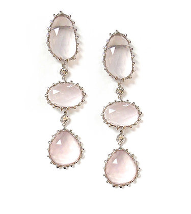 Stunning Rose Quartz Earrings