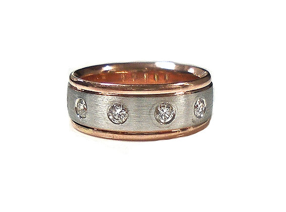 Engravable Two Tone Band