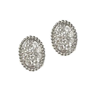 Ovally Diamond Studs