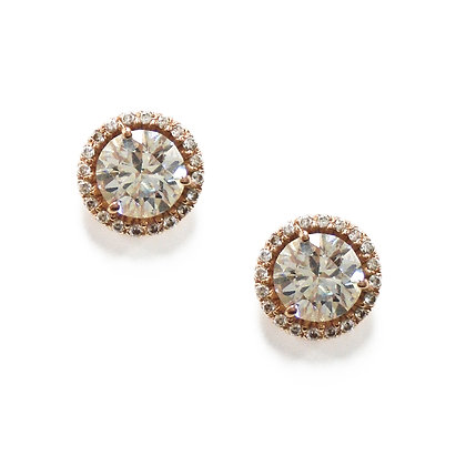 Pink Halo - Stud Earrings