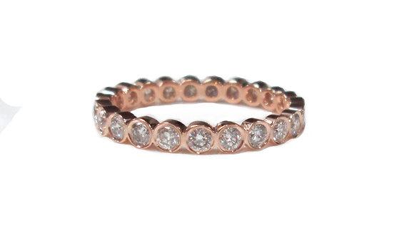 Pink Bez-Set Ring