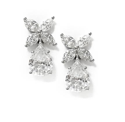 Dangle Tiffany Diamond Earrings