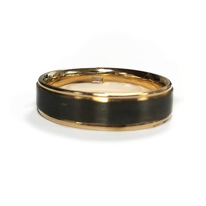 Two Tone Handmade 14kt Gold Band