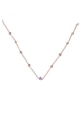 SS Pink Plated Necklace