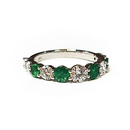 Emerald Diamond Eternity