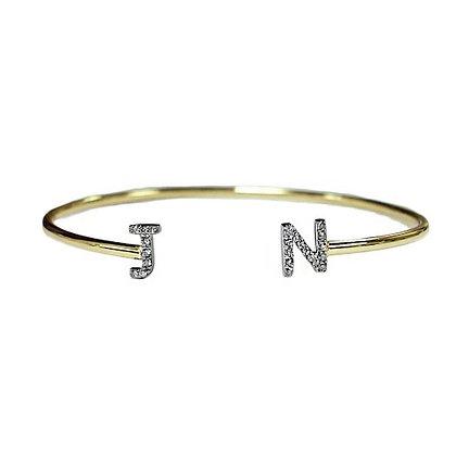"""Initial Bangle """"J"""" and """"N"""""""