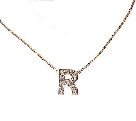"""R"" Necklace"