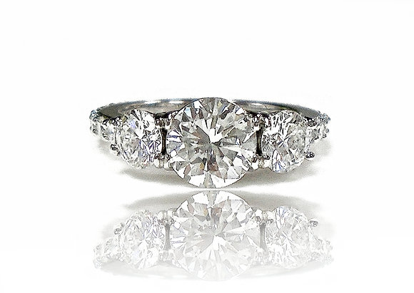 "3 Stone Dream Ring ""Lots of Bling"""